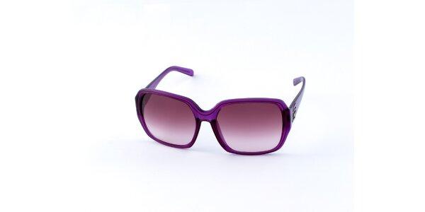 Dámske sýto fialové slnečné okuliare Guess