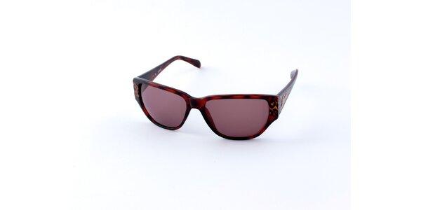 Dámske korytnačie slnečné okuliare Guess s leopardími detailami