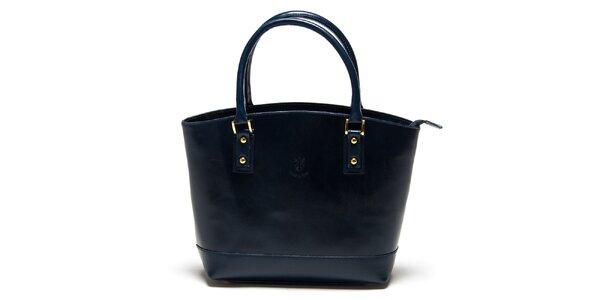 Dámska tmavo modrá kabelka Carla Ferreri