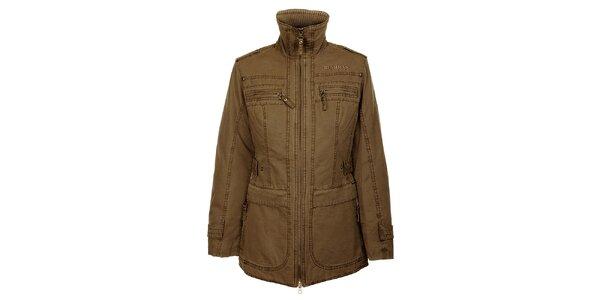 Dámsky zimný khaki kabátik Bushman