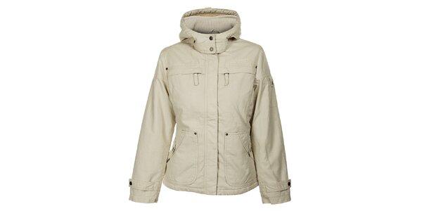 Dámska krémová zimná bunda Bushman