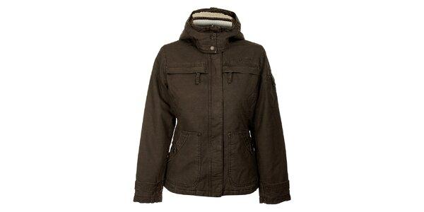 Dámska tmavo hnedá zimná bunda Bushman