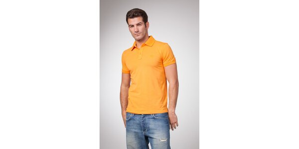 Pánske žlto-oranžové polo tričko Bendorff