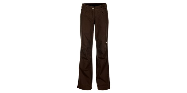 Dámske tmavo hnedé nohavice Bushman