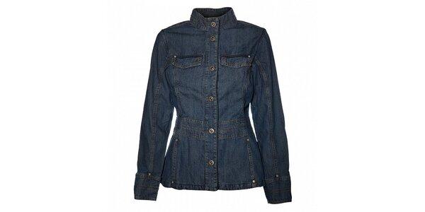 Dámsky tmavo modrý džínsový kabátik Bushman