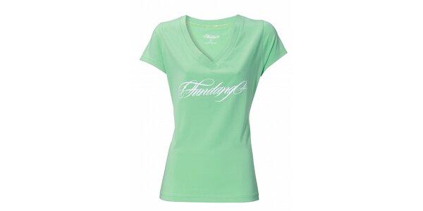 Dámske mentolové tričko Fundango s potlačou