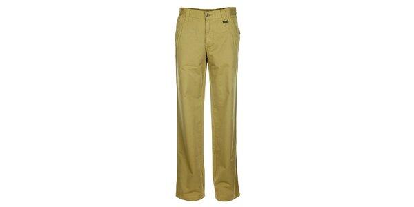 Pánske svetlo béžové chino nohavice Bushman