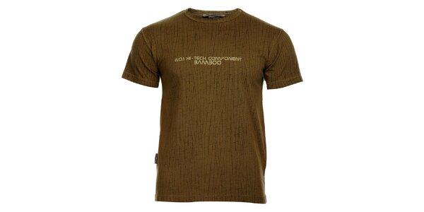 Pánske šedé tričko Bushman s motívom bambusu