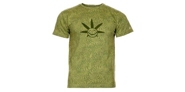 Pánske svetlo zelené tričko Bushman s potlačou