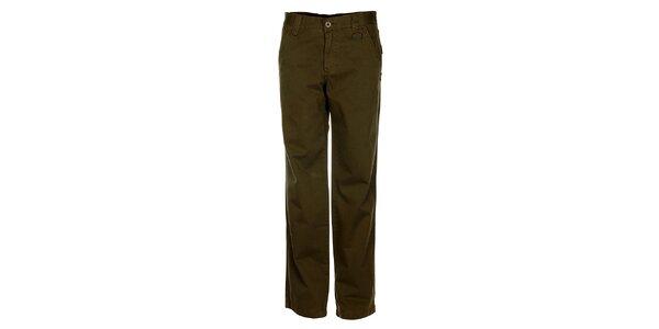 Pánske olivové chino nohavice Bushman