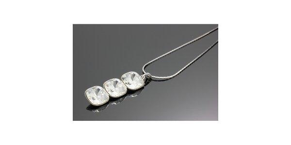Dámsky náhrdelník s podlhovastým príveskom Swarovski
