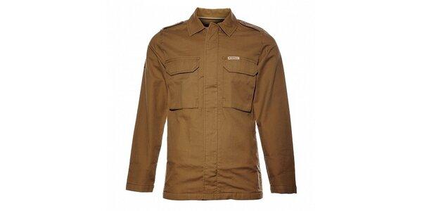 Pánska orieškovo hnedá bunda Bushman