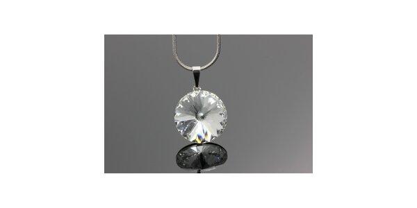 Dámsky náhrdelník s guľatým kryštálom Swarovski