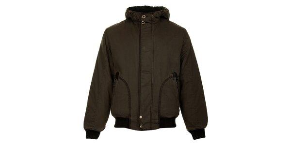 Pánska tmavo hnedá zimná bunda Bushman