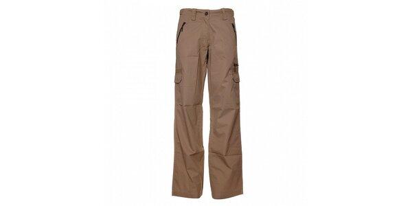 Pánske svetlo béžové plátené nohavice Bushman