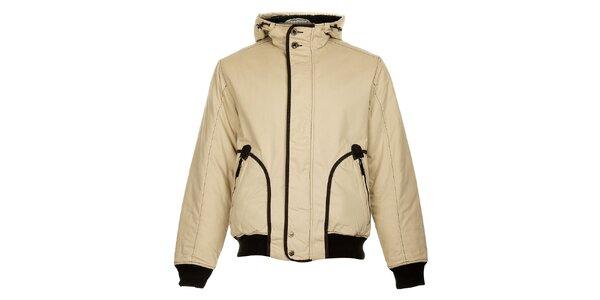Pánska béžová zimná bunda Bushman