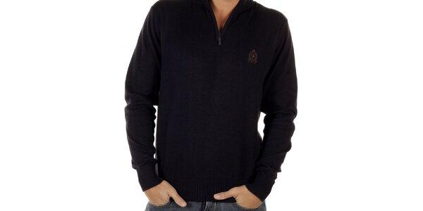 Pánsky tmavo modrý sveter s rolákom CLK