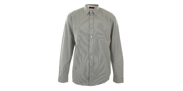 Pánska šedá košeľa s prúžkami Big Star