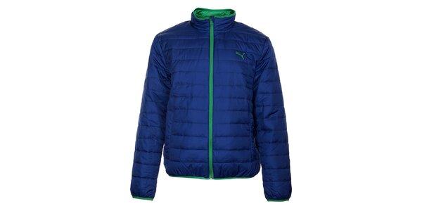 c52cffa3aeaec Pánska žiarivo modrá zimná prešívaná bunda Puma