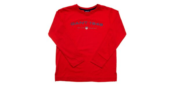 Detské červené tričko Gant s potlačou