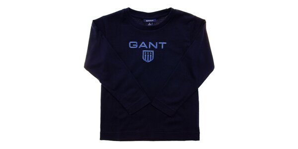 Detské tmavo modré tričko Gant s potlačou