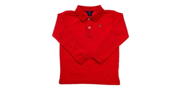 Detské červené polo Gant