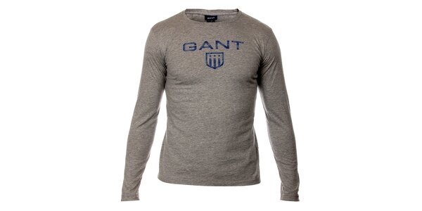 Detské svetlo šedé tričko Gant s potlačou