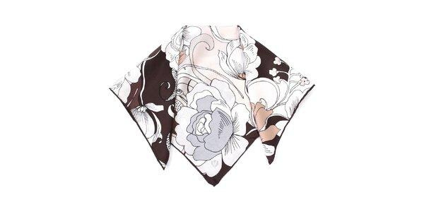 Dámska hodvábna šatka s kvetinovým vzoromFraas