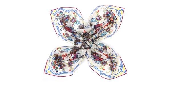 Dámska hodvábna vzorovaná šatka Fraas