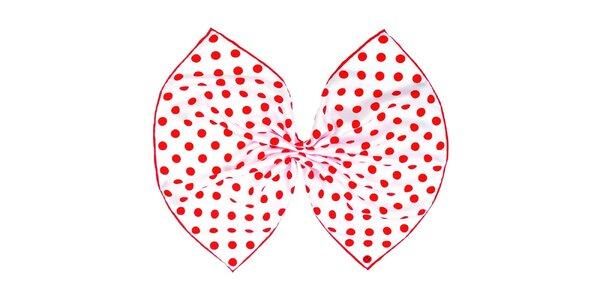 Dámska hodvábna červeno bodkovaná šatka Fraas