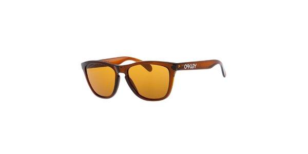 Hnedé slnečné okuliare Oakley