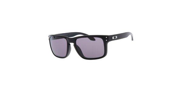 Hranaté čierne slnečné okuliare Oakley
