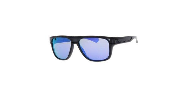 Čierne slnečné okuliare s fialovými sklami Oakley