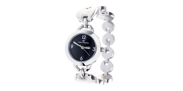 Dámske oceľové hodinky Tom Tailor s čiernym ciferníkom