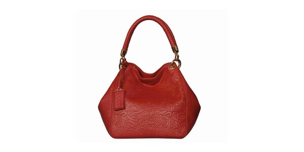 Dámska červená vzorovaná kabelka POON Bags