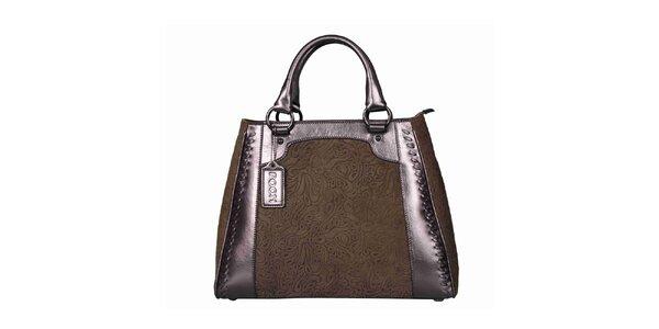 Dámska hnedá taška so vzorom POON Bags