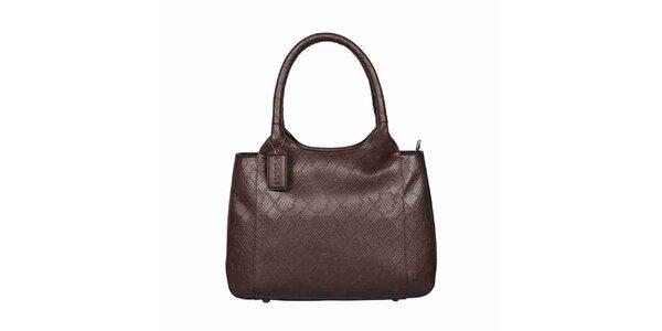 Dámska hnedá kožená kabelka POON Bags