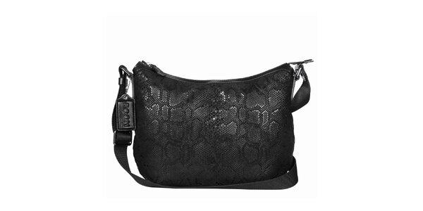 Dámska čierna hadia kabelka POON Bags