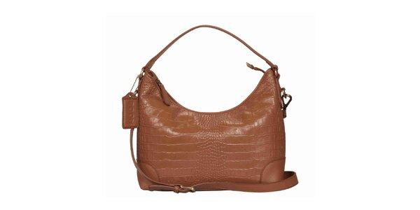 Dámska koňakovo hnedá kabelka POON Bags