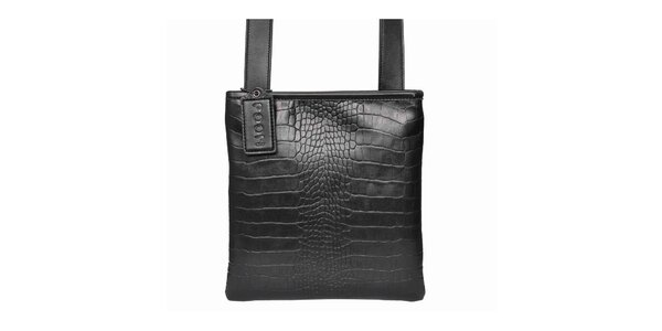Dámska čierna kabelka cez rameno POON Bags