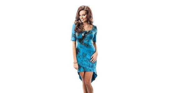 Dámske modré šaty s batikovým vzorom Enny