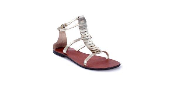 Dámske metalické sandálky Gallaz