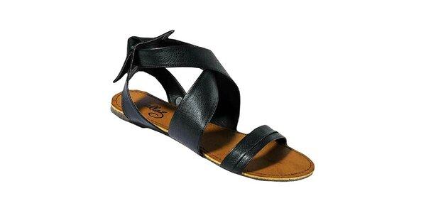 Dámske čierne sandálky Gallaz