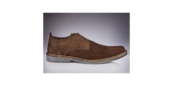 Pánske hnedé semišové topánky Roamers