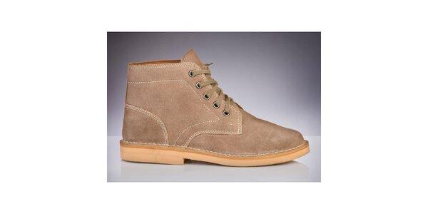 Pánske béžové členkové topánky Roamers