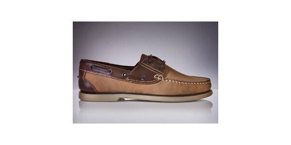 Pánske hnedé topánky DEK