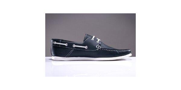 Pánske tmavo modré topánky s prešívanou špičkou DEK