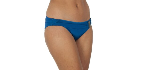 Dámske modré plavkové nohavičky s ozdobou Calvin Klein