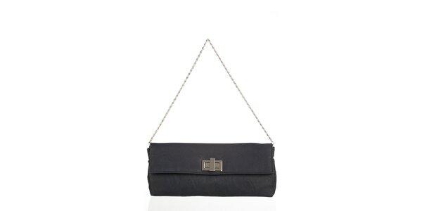Antracitová obdĺžniková kabelka s otočnou sponou