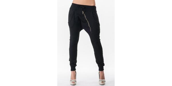 Dámske turecké nohavice v čiernej farbe Sixie